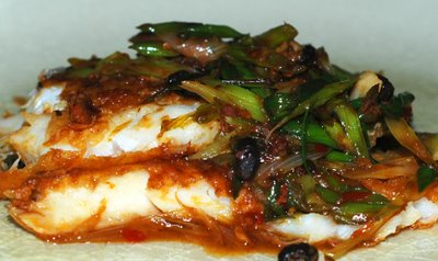Blazing Hot Wok: White fish in Chili Black Bean Sauce