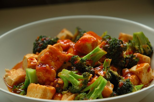 Blazing Hot Wok: Saucy Broccoli and Tofu Stir-fry